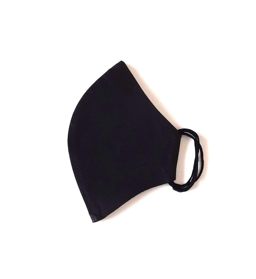Dvisluoksnė kaukė M dydžio (juoda)